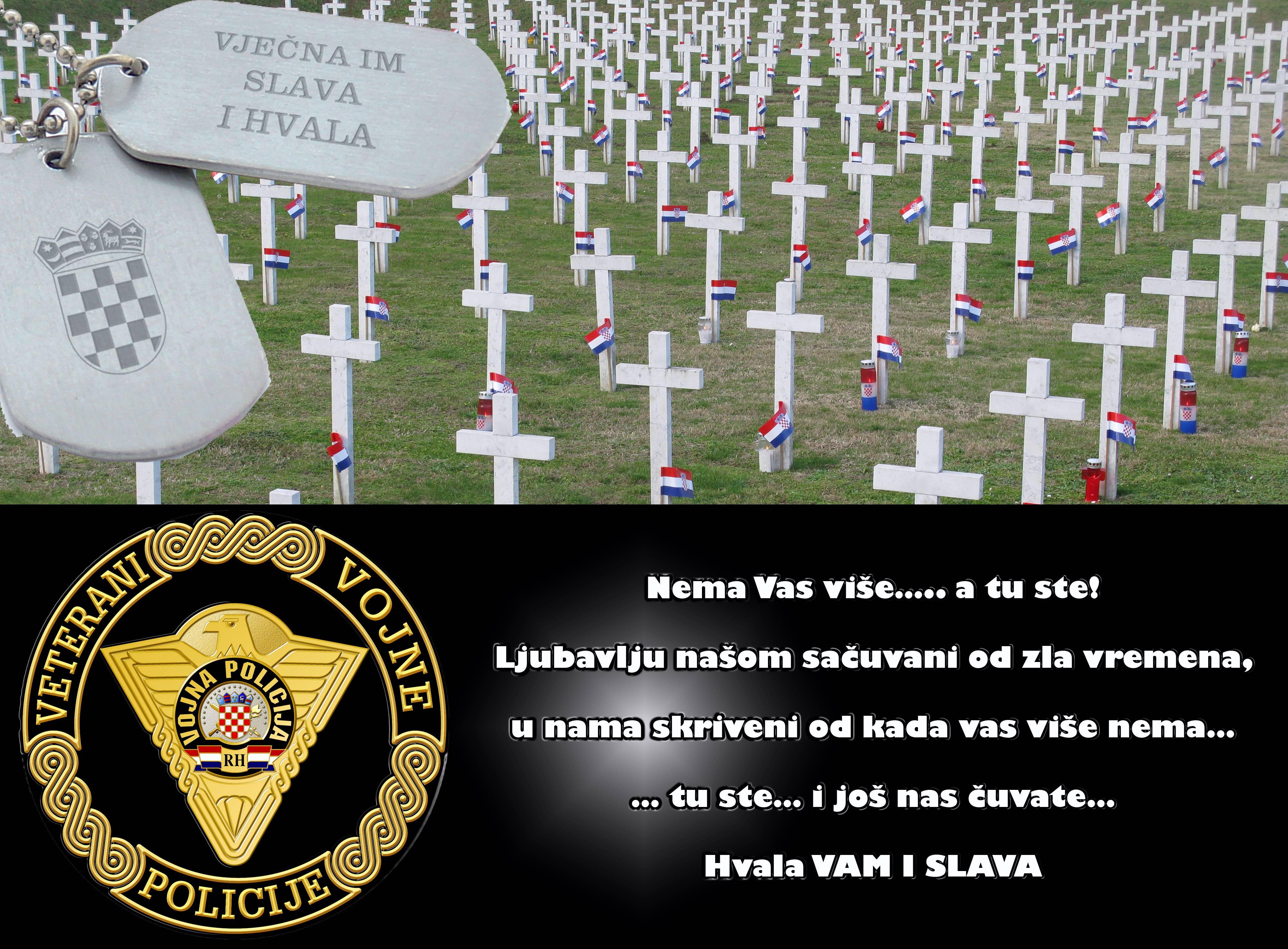 Sjecanje sponosom na pripadnike VP poginule u Domovinskom ratu 2