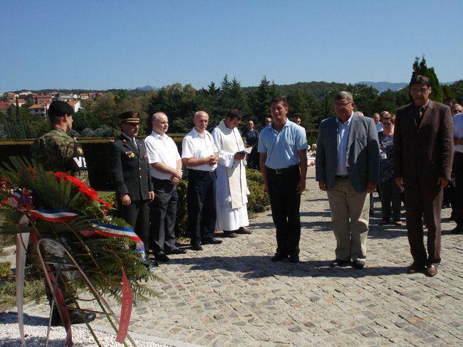 Rijeka,polaganje vijenaca povodom 20. obljetnice osnivanja Vojne policije